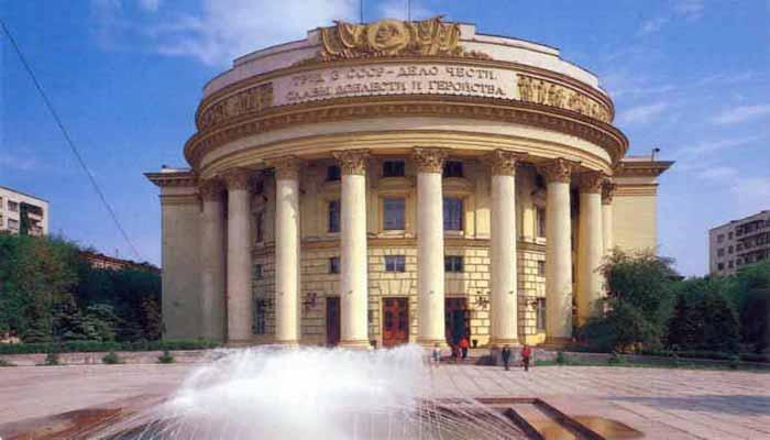 Почтовая открытка Волгоград. Дом союзов .